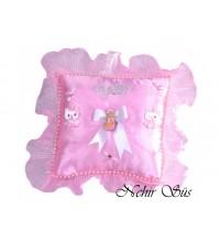 Bebek Takı Yastıgı Kare Pembe